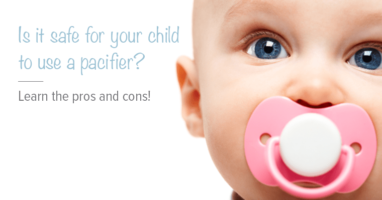 Are pacifiers safe for babies? Our blog will list the pros and cons!
